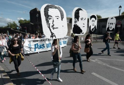 Bayonne: manifestation de soutien à quatre prisonniers basques