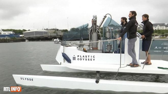 Pour avancer, ce bateau n'a besoin que de plastique comme carburant