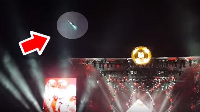 Une BOULE DE FEU, observable samedi soir depuis la Belgique, a été filmée lors d'un concert des Foo Fighters aux Pays-Bas (vidéo)