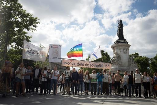 Manifestation à Paris en soutien aux migrants