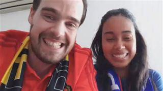 LE COUPLE emblématique du 1er match des Diables- Jenny est panaméenne, David est belge, ils s'aiment et encourageront leur équipe dans le stade (vidéos) 3