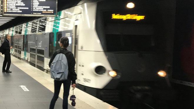 Le RER A en plein Paris à l'arrêt pour une raison que les navetteurs n'ont pas l'habitude d'entendre....