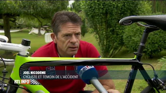 Joël a évité de justesse le violent accident entre des cyclistes et une voiture à Wasmes: