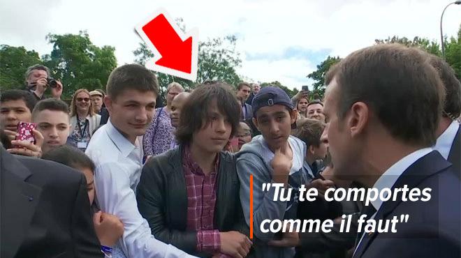 Le jeune pris à partie par Macron est