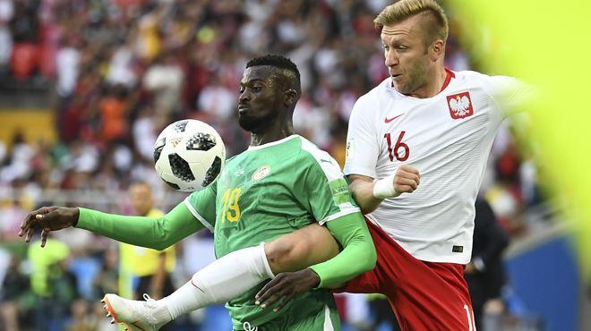 Mondial 2018- le Sénégal prend l'avance face à la Pologne grâce à un tir dévié (0-1) 1