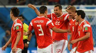 Mondial 2018- la Russie a un pied en 1/8e de finale après sa démonstration contre l'Egypte, malgré un but de Salah (3-1) 2