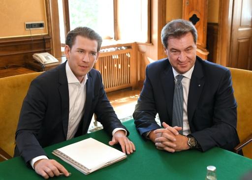 Autriche: Kurz reçoit les Bavarois et agite le spectre d'une