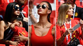 Les Wags des Diables Rouges assistent au match Belgique - Tunisie (photos) 5