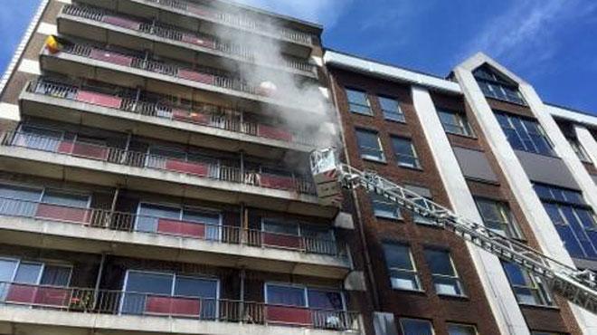 Incendie dans le centre de Charleroi: un bébé à l'hôpital