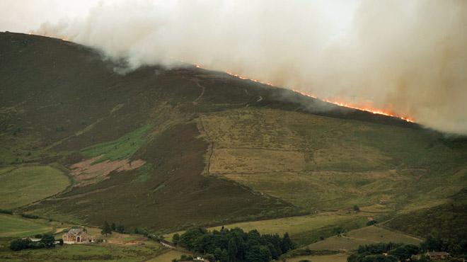 La sécheresse provoque un incendie d'une rare intensité... en Angleterre