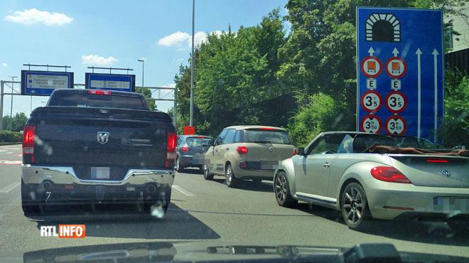 Énormes embarras de circulation à Bruxelles: la fermeture de tunnels crée le chaos