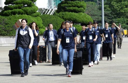 Diplomatie du basket entre les deux Corées: des joueurs du Sud débarquent au Nord