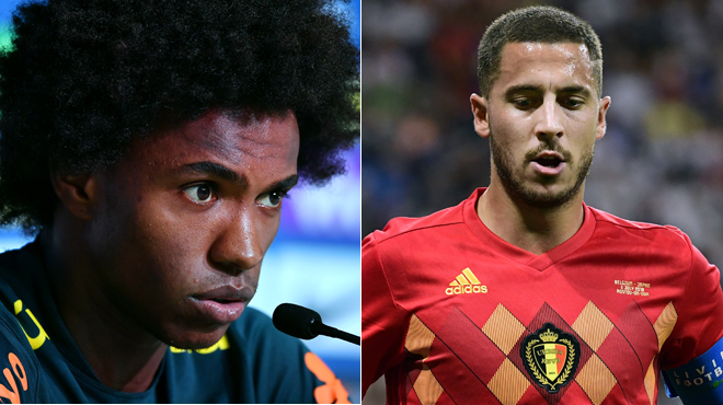 Brésil- Belgique Willian a un message à faire passer à Eden Hazard