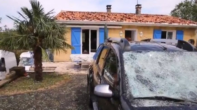 Violents orages en France cette nuit: 800 maisons endommagées en Charente (vidéo)