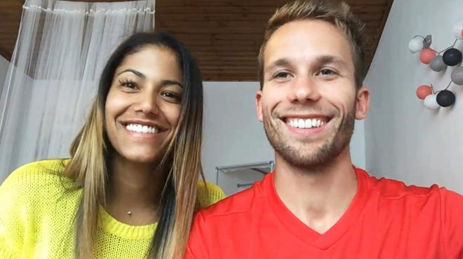 Hellen et Julien, le couple belgo-brésilien qui attend le quart de finale de pied ferme: