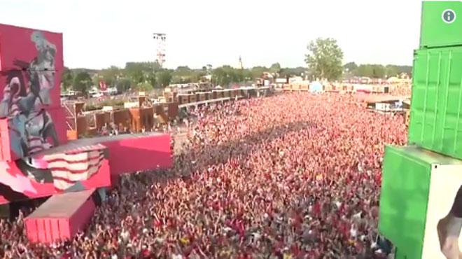 Rock Werchter: les festivaliers euphoriques après la victoire des Diables (vidéo)