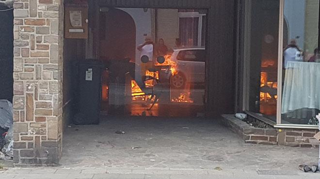 Un violent incendie se déclare à Souvret: plusieurs bâtiments en feu, des renforts dépêchés sur place (photos)