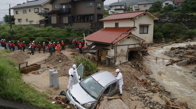 Pluies abondantes au Japon: