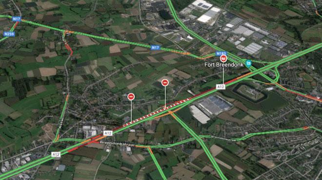 Grave accident sur l'autoroute A12 vers Bruxelles : un mort et 8 blessés, l'autoroute toujours fermée