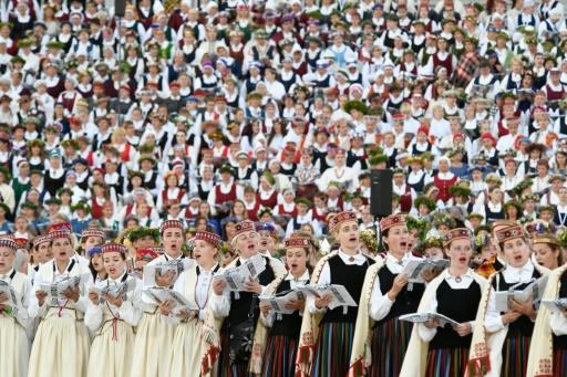 Méga-chorale à Riga pour célébrer l'indépendance de la Lettonie
