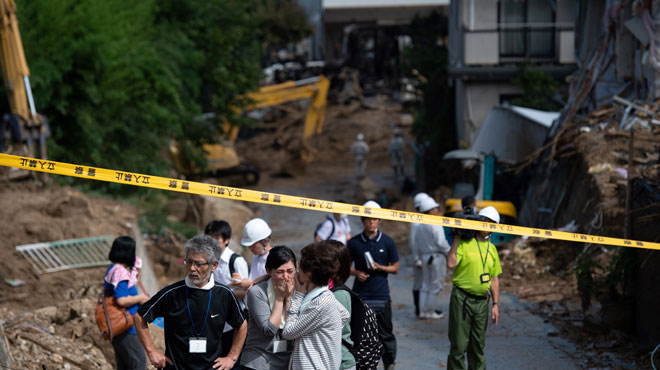 Intempéries au Japon: au moins 100 morts, difficiles opérations de secours