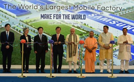 Samsung inaugure la plus grande usine de smartphones au monde en Inde