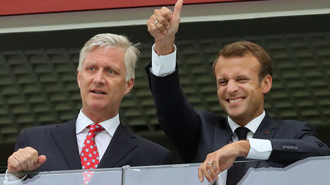 Mondial: Emmanuel et Brigitte Macron seront dans les tribunes pour la finale