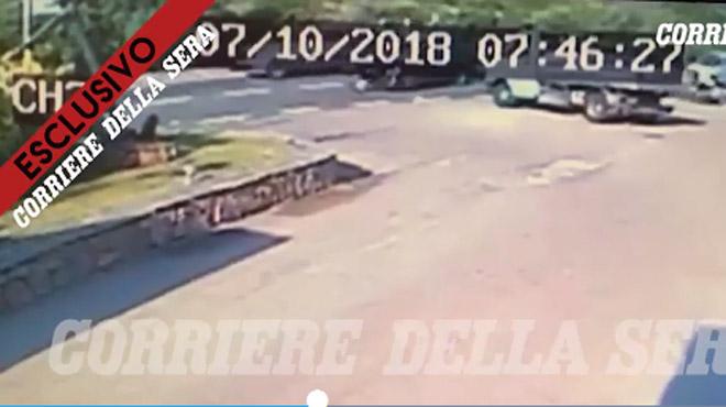 George Clooney: son accident de scooter a été filmé (vidéo)