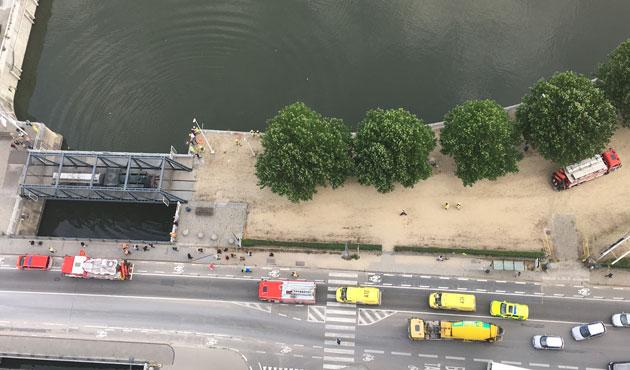Chute dans le canal à Bruxelles ce matin: les plongeurs ont repêché et réanimé la personne (photos)
