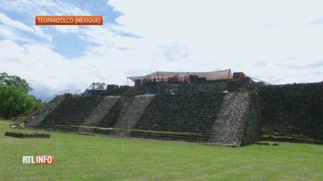 Un temple découvert dans une pyramide après le séisme de Mexico