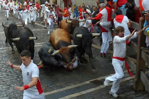 Lâchers de taureaux de la San Fermin: 42 blessés