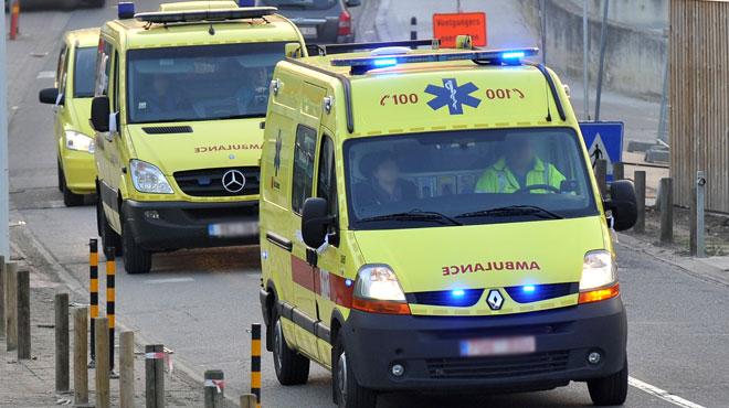 Accident à Seraing: une personne grièvement blessée