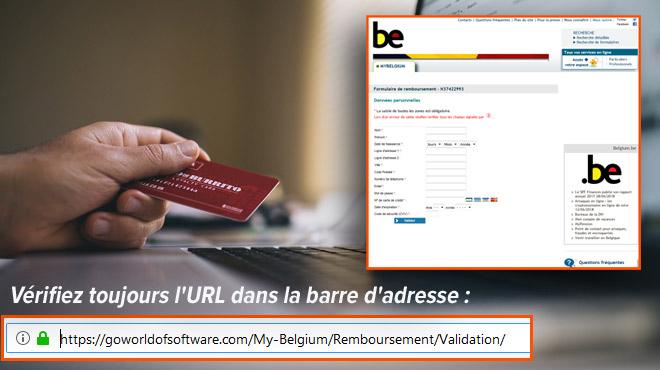 Alerte ARNAQUE: n'allez pas sur ce site qui se fait passer pour le fisc belge et prétend vous rembourser !