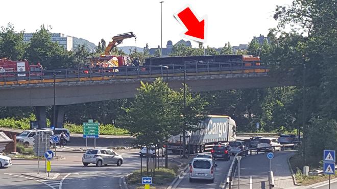 Un camion couché sur la E42 à Ensival provoque d'importants embarras de circulation