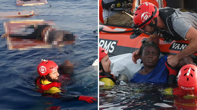 Josepha retrouvée sur un radeau en pleine mer Méditerranée: près d'elle, les corps sans vie d'une femme et d'un petit garçon