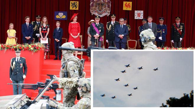 Fête nationale- découvrez la surprise des F16 au Roi Philippe (Photos) 1