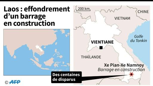 Effondrement d'un barrage au Laos: des centaines de personnes portées disparues