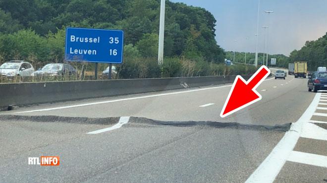 La chaleur endommage l'autoroute E314 vers Bruxelles: