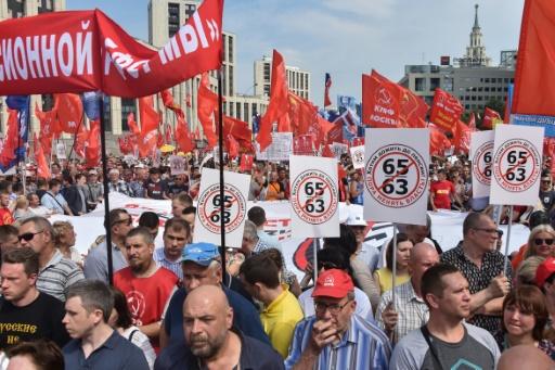 Russie: des milliers de manifestants contre une réforme des retraites