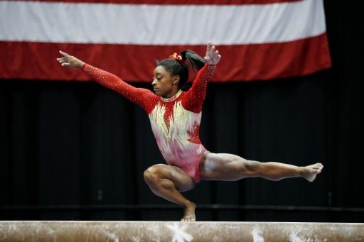 Gymnastique: retour gagnant pour Simone Biles
