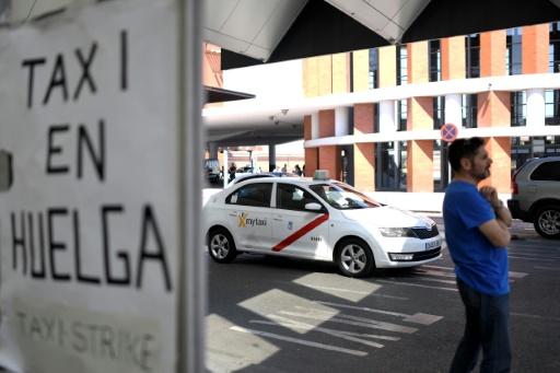 Espagne: la grève de taxis contre les VTC s'étend