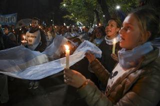 Argentine - manifestation des anti-avortement, une semaine avant le vote du Sénat
