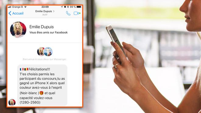 Après Maria del Rio, c'est Emilie Dupuis qui est victime d'une usurpation d'identité sur Facebook: