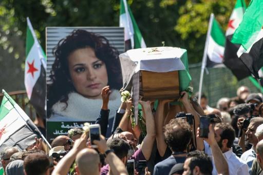 Une actrice syrienne anti-Assad inhumée en France