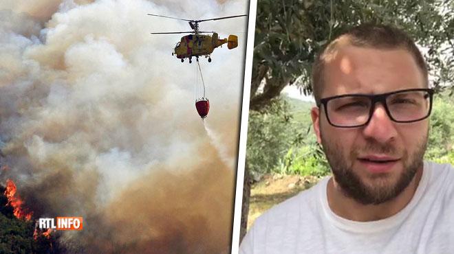 Pierre et sa femme enceinte sont au Portugal près d'une zone en feu: