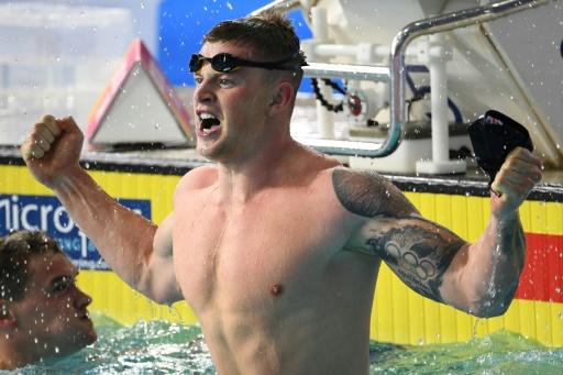 Euro de natation: or et record du monde pour Adam Peaty au 100 m brasse