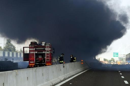 Explosion d'un camion-citerne à Bologne: un mort et 68 blessés