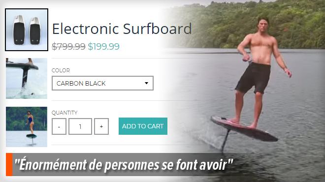 john a rep r l 39 arnaque du surf lectrique sur facebook 3 de ses amis se sont fait avoir c. Black Bedroom Furniture Sets. Home Design Ideas