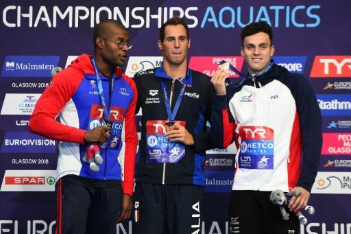 Euro de natation: Codia sacré en 100 m papillon devant Metella
