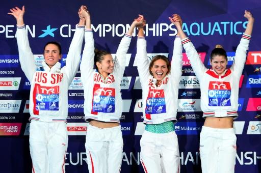 Euro de natation: la Russie sur une autre planète sur 4x100 m 4 nages